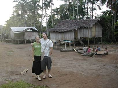 Logan and Desiree Carnell in Numba Village