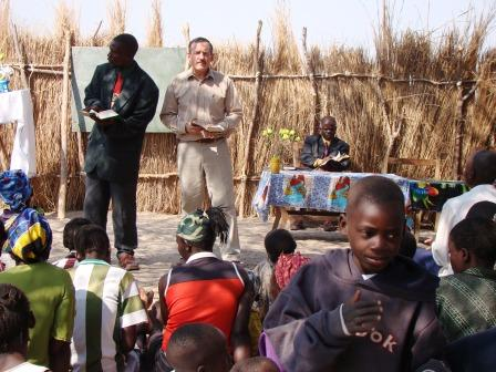 Bible Class Under the Thorn Tree in Zambia