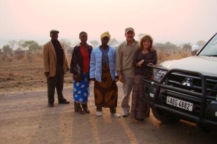 Our 4-wheel drive in Zambia