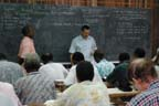 Praying before bible class in Papua New Guinea
