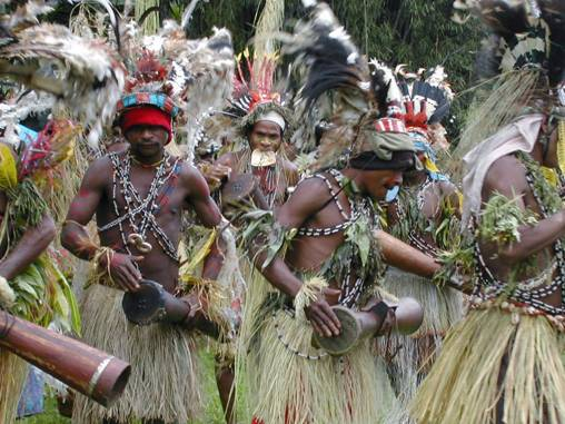 native dancers numba village Papua New Guinea