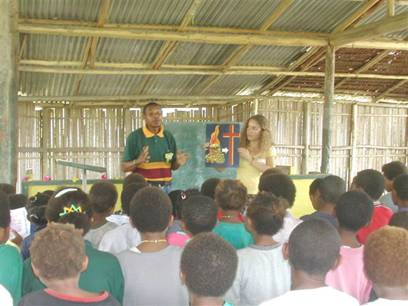 Ellen French and Children Bible School in PNG