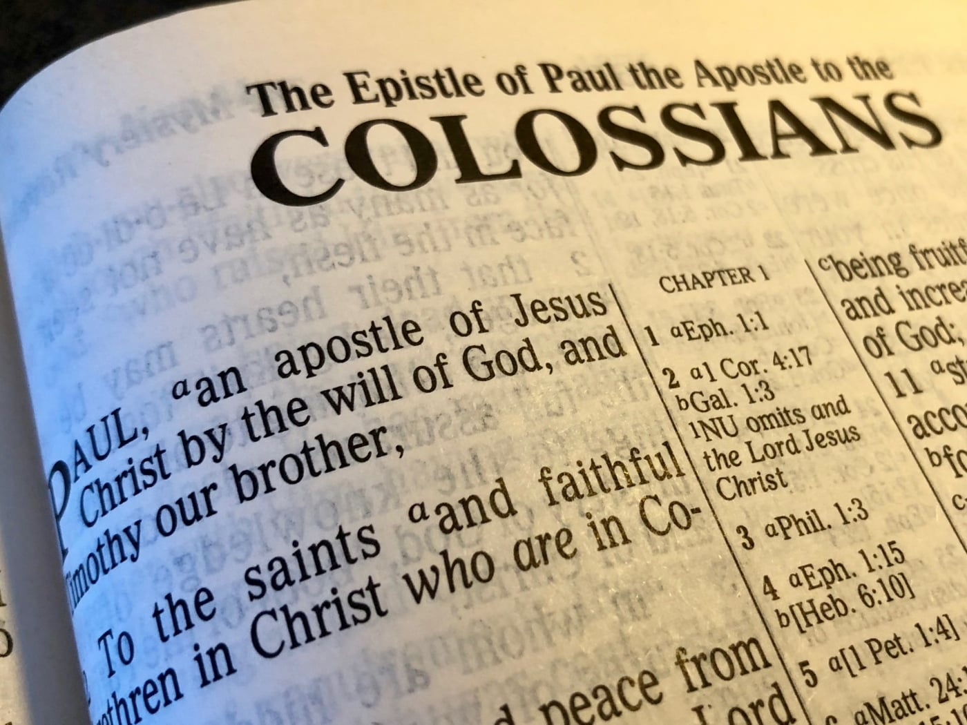 Colossians Lesson 6