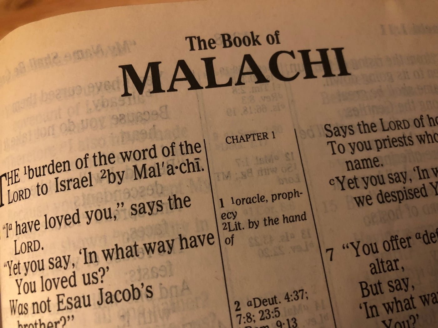 Malachi Session  7